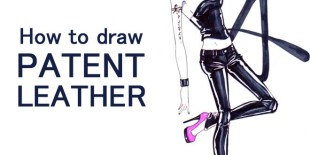 how to draw patent leather step by step