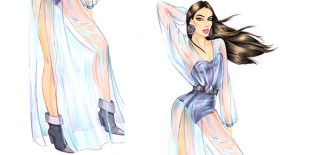 how to draw transparent fabrics – chiffon tutorial