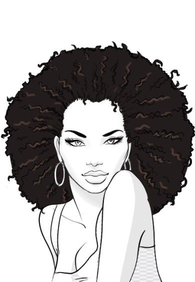 How-to-draw-afro-hair-in-fashion-design-sketches-step-9