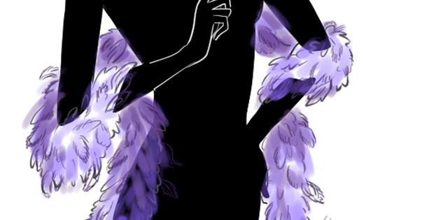 How-to-draw-a-feather-boa-in-fashion-design-sketches-index