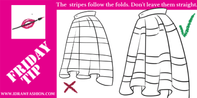 FRIDAY-TIP–how-to-draw-stripes on a skirt
