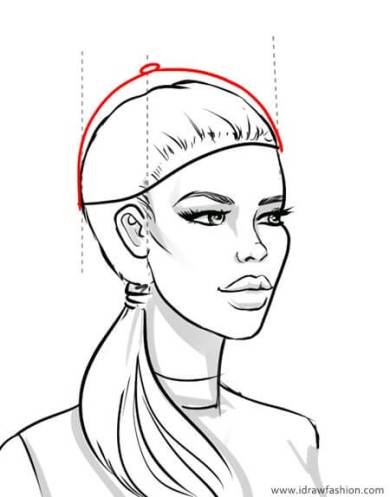 How to draw a baseball cap – step-03