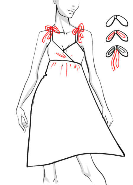 how to draw a summer dress step by step 05