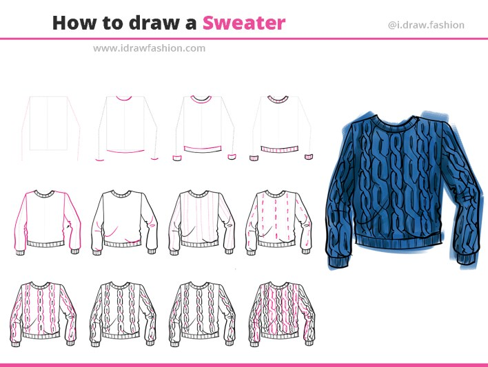 How to draw a sweater 1