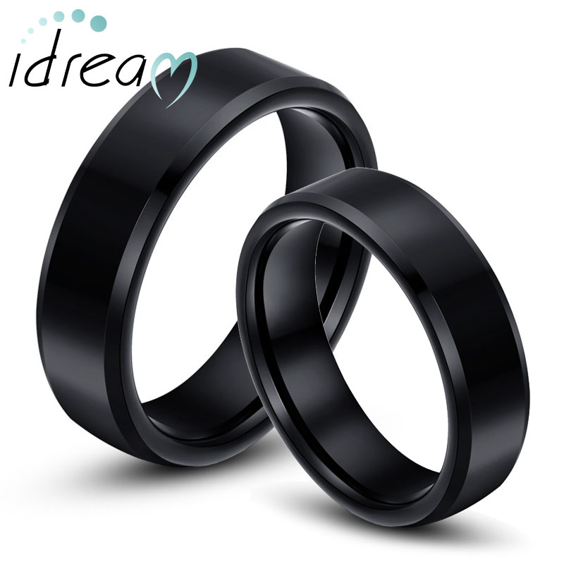 Black Wedding Rings For Him And Her