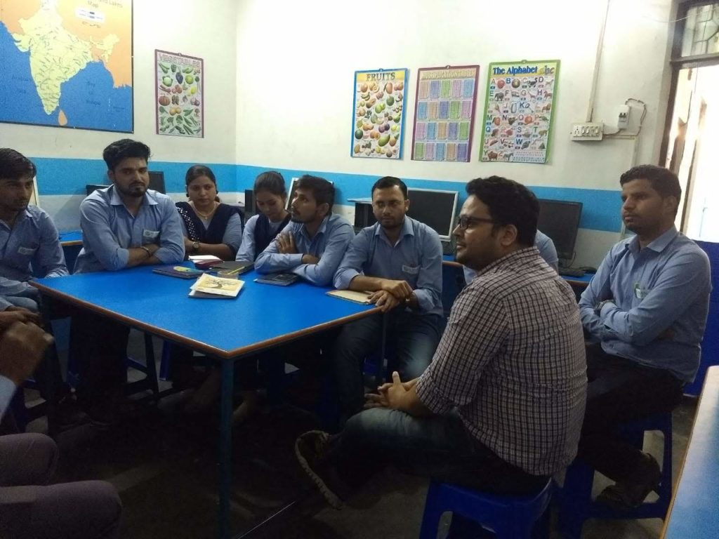 interacted with a bunch of teachers