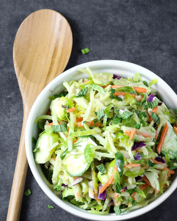 Detox Broccoli and Brussels Sprouts Slaw