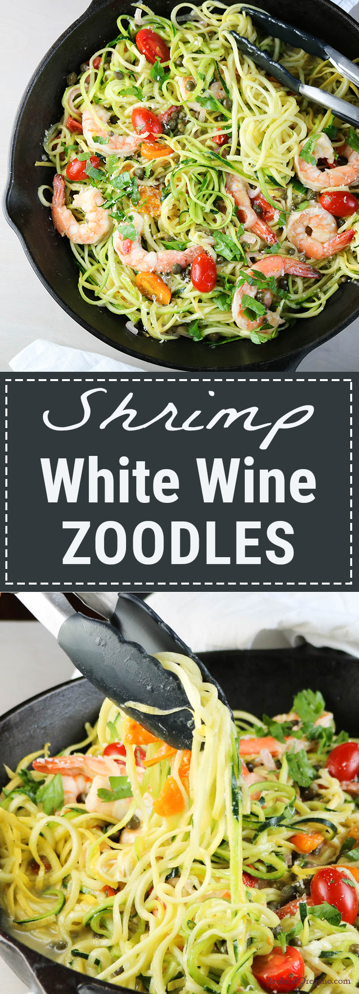 Shrimp Zoodles in White Wine Sauce