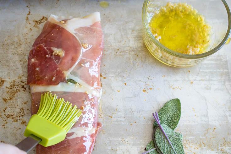 Pork Saltimbocca - low carb, gluten free, keto, easy meal