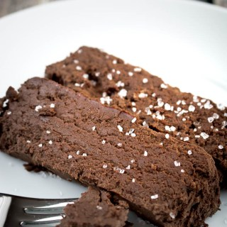 salted chocolate terrine, flourless chocolate, low-carb cake