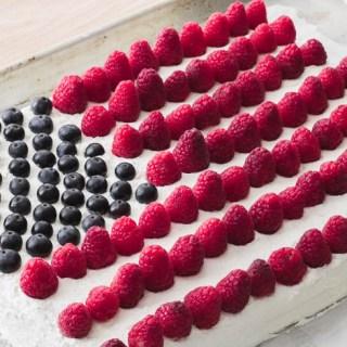 Keto Pavlova Flag Cake - Meringue, 4th of July, Independence Day, Dessert, Low-Carb, Gluten-Free