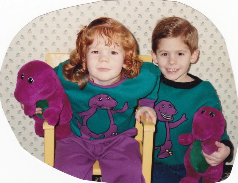 blog Kristoffer and Rebecca in Barney sets