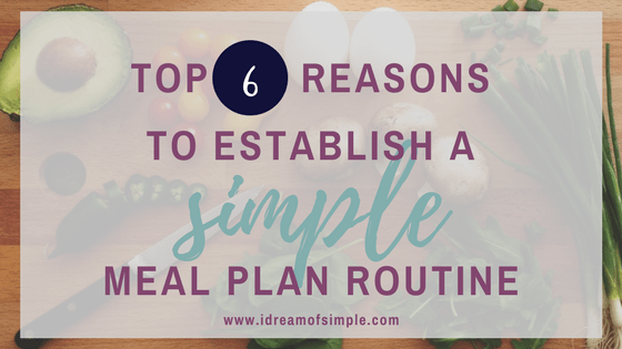There are many benefits to meal planning. Simple living and minimalism.