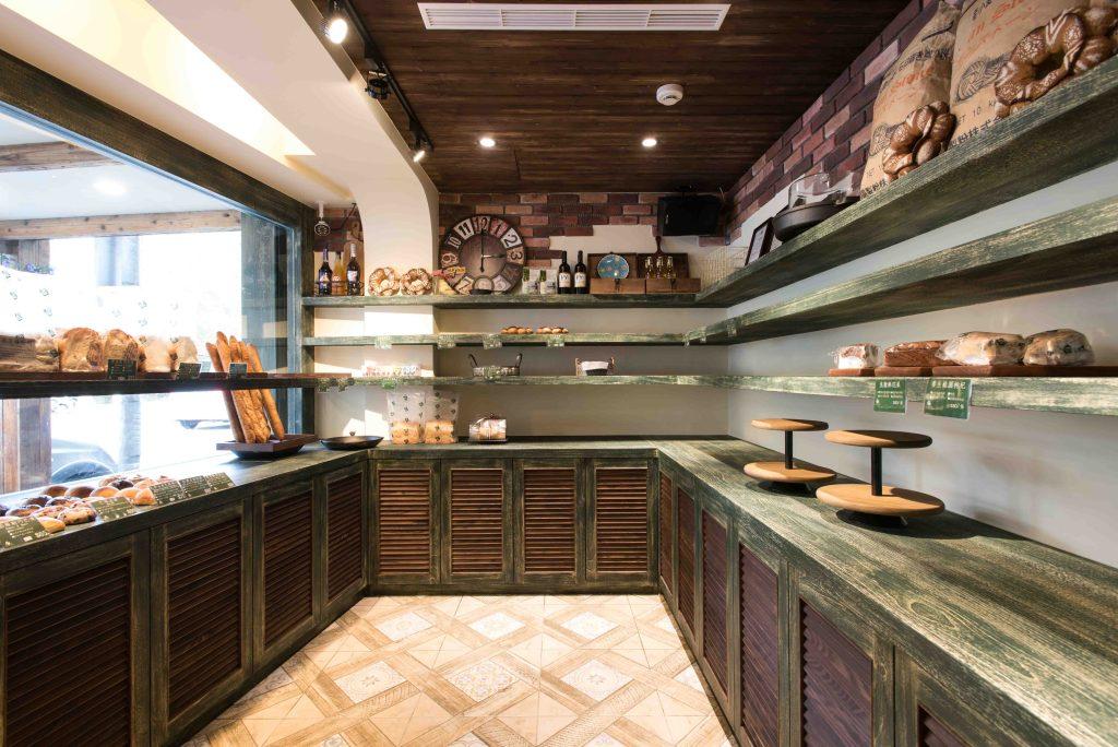鄉村風商業空間:麵包店商品陳列