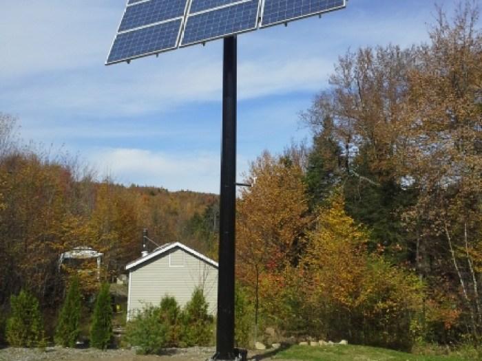 Chalet Harvey - installation de pointeurs solaires pour chalets du Québec