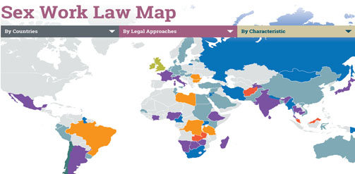 The Sex Work Law Map graphic