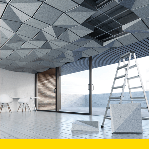 turf acoustic ceiling tile systems