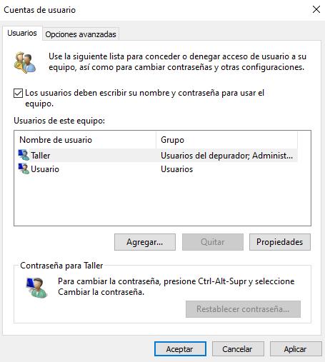 Iniciar sesión en Windows 10 sin tener que ingresar una contraseña