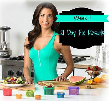21 Day Fix Results: Week 1