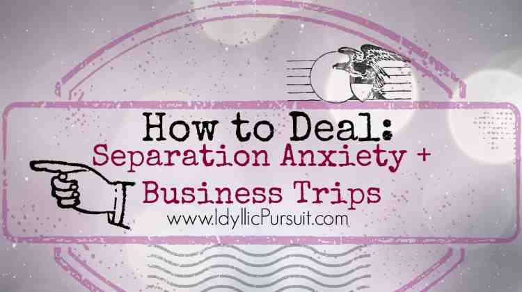 Dealing With Separation Anxiety and Business Trips