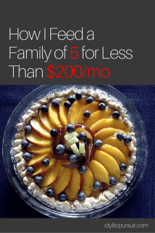 How I feed a family of 5 for less than $200/mo at idyllicpursuit.com
