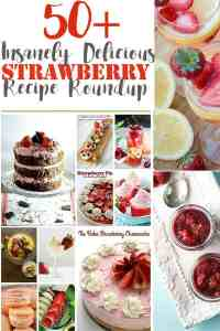 50+ Insanely Delicious Strawberry Roundup! Your fave bloggers strawberry recipes and more at idyllicpursuit.com