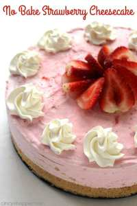 No Bake Strawberry Cheesecake and other strawberry recipes at www.idyllicpursuit.com