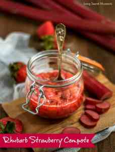 Rhubarb Strawberry Compote and other strawberry recipes at www.idyllicpursuit.com