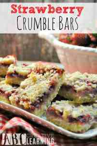Strawberry Crumble Bars and other strawberry recipes at www.idyllicpursuit.com