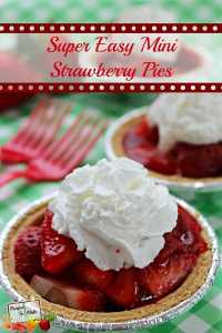 Super Easy Mini Strawberry Pies and other strawberry recipes at www.idyllicpursuit.com