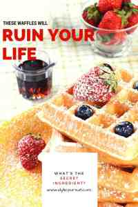 These waffles will ruin your life. What's the secret ingredient? www.idyllicpursuit.com