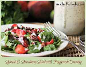 Spinach & Strawberry Salad with Poppyseed Dressing and other strawberry recipes at idyllicpursuit.com