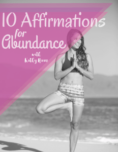 10 Affirmations for Abundance so you can manifest the life you deserve! www.idyllicpursuit.com