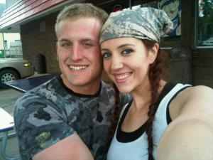 Kathy and Kirk Haan after paintball