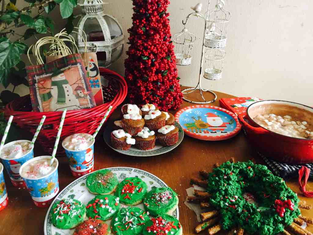 Christmas party tablescape