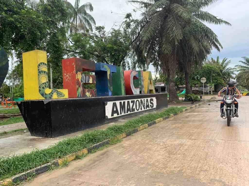Photo of Leticia, Amazon sign