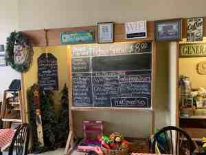 menu at Sunflower Soda Fountain & Sandwich Shop in Coffeyville KS