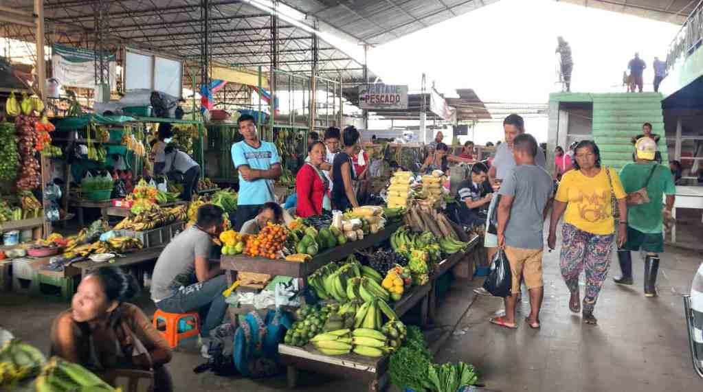 An indoor market in Leticia, Amazonas, Colombia