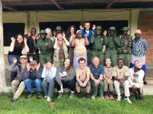 Biosphere Expeditions with Enonkishu Conservancy staff in Kenya