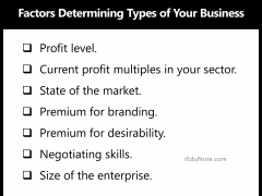 Factors Determining Types of Business