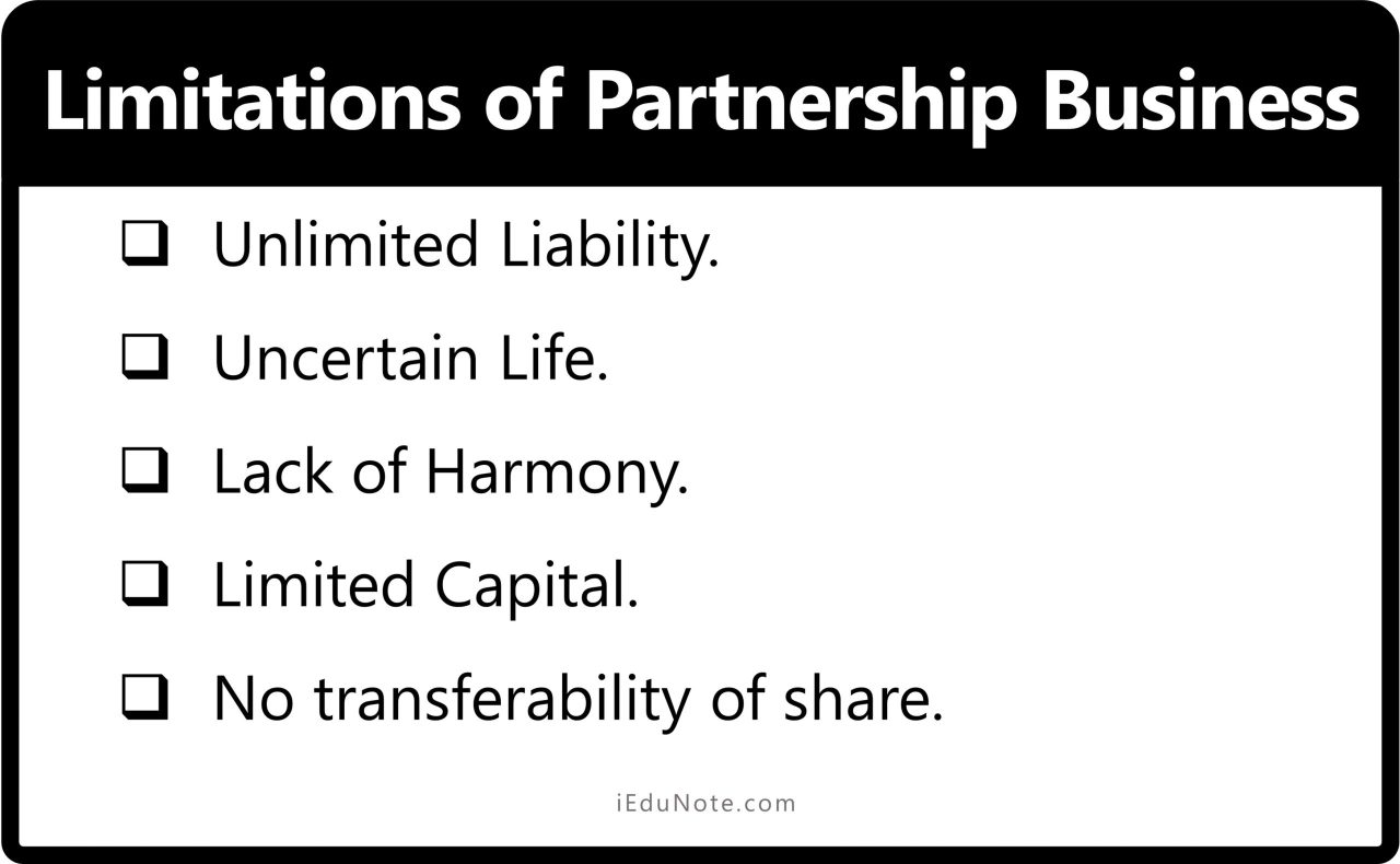 Limitations of Partnership Form of Business Organization
