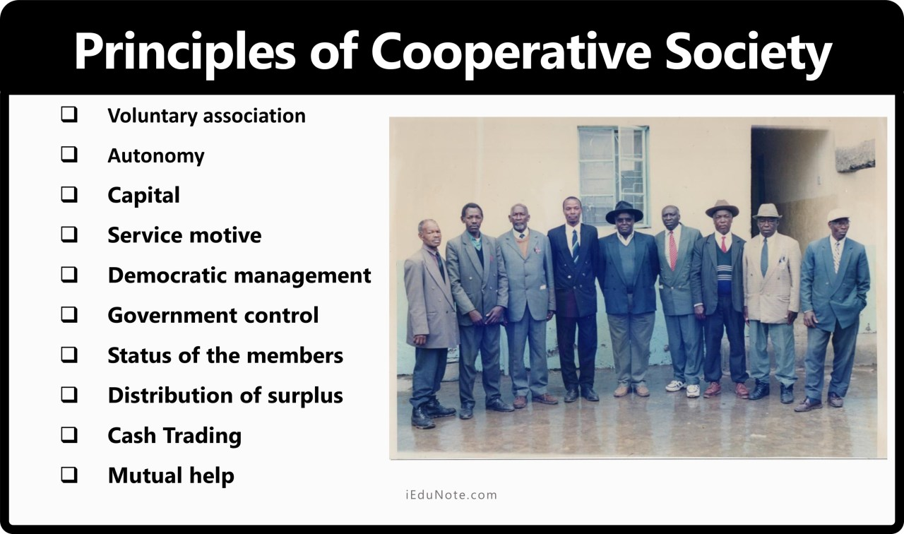 Principles of Cooperative Society