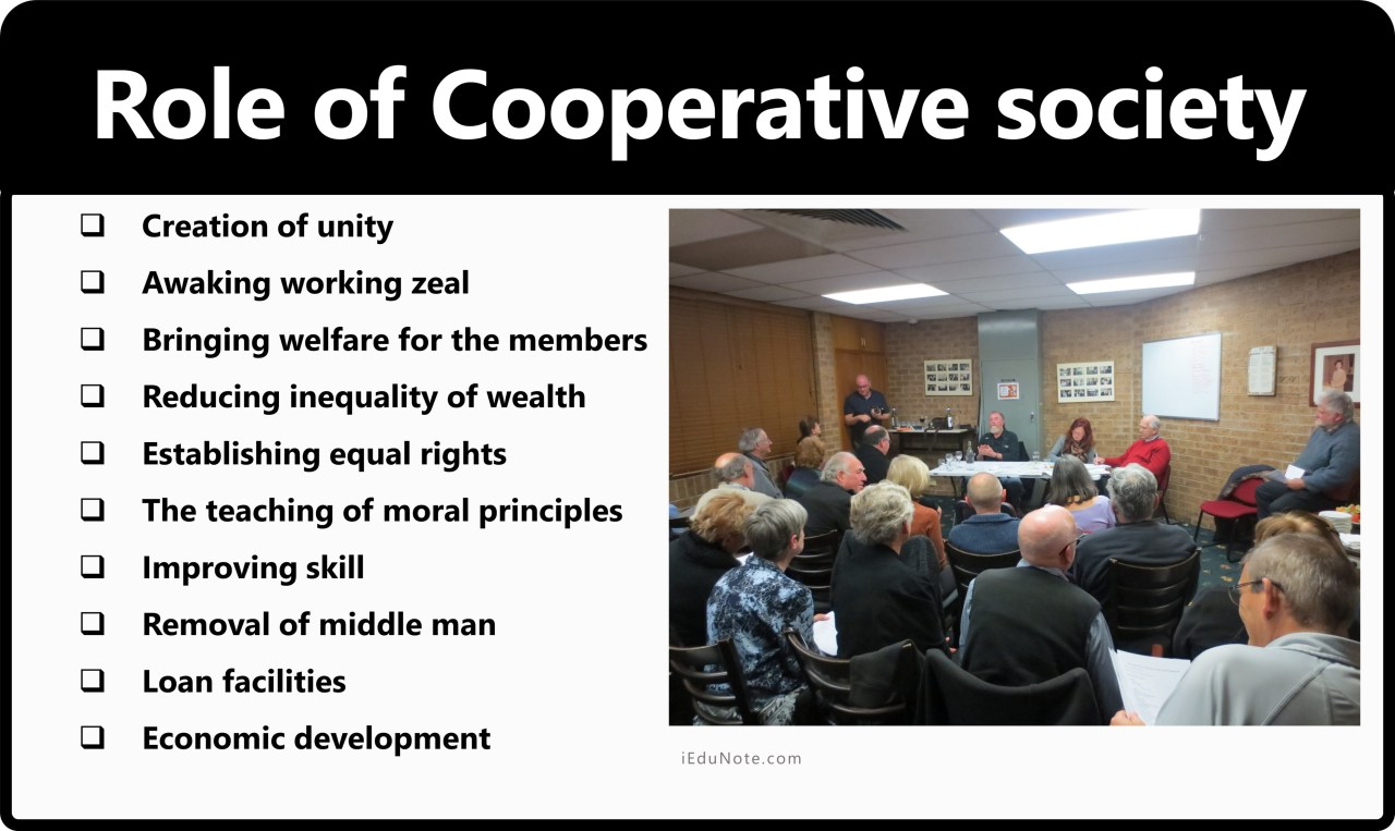 Role of Cooperative society