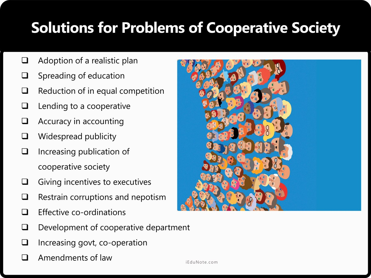 Solutions for Problems of Cooperative Society