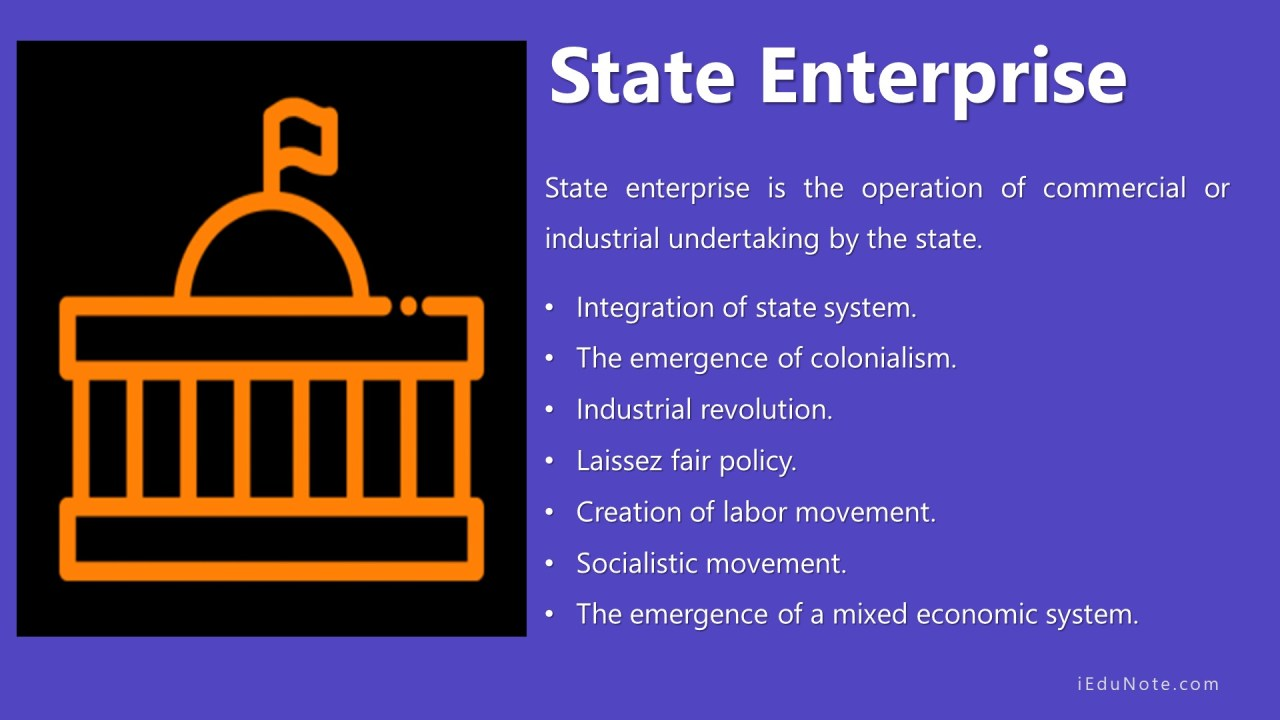 What is State Enterprise?