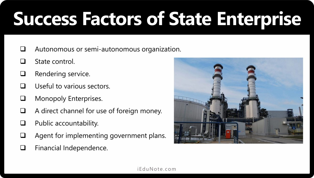 Why state enterprises are successful