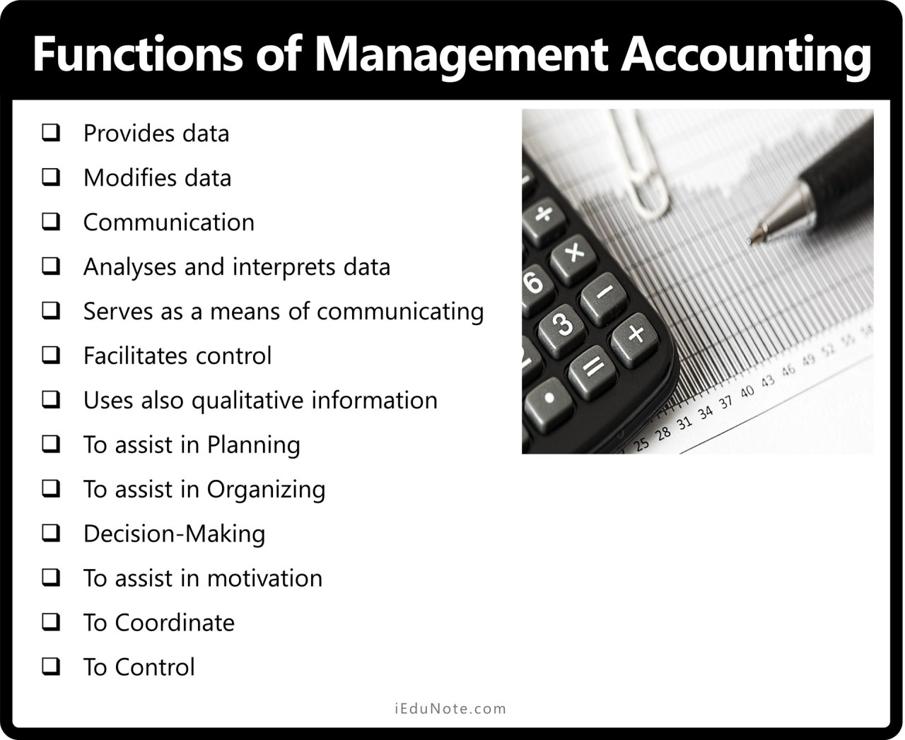 Functions of Management Accounting