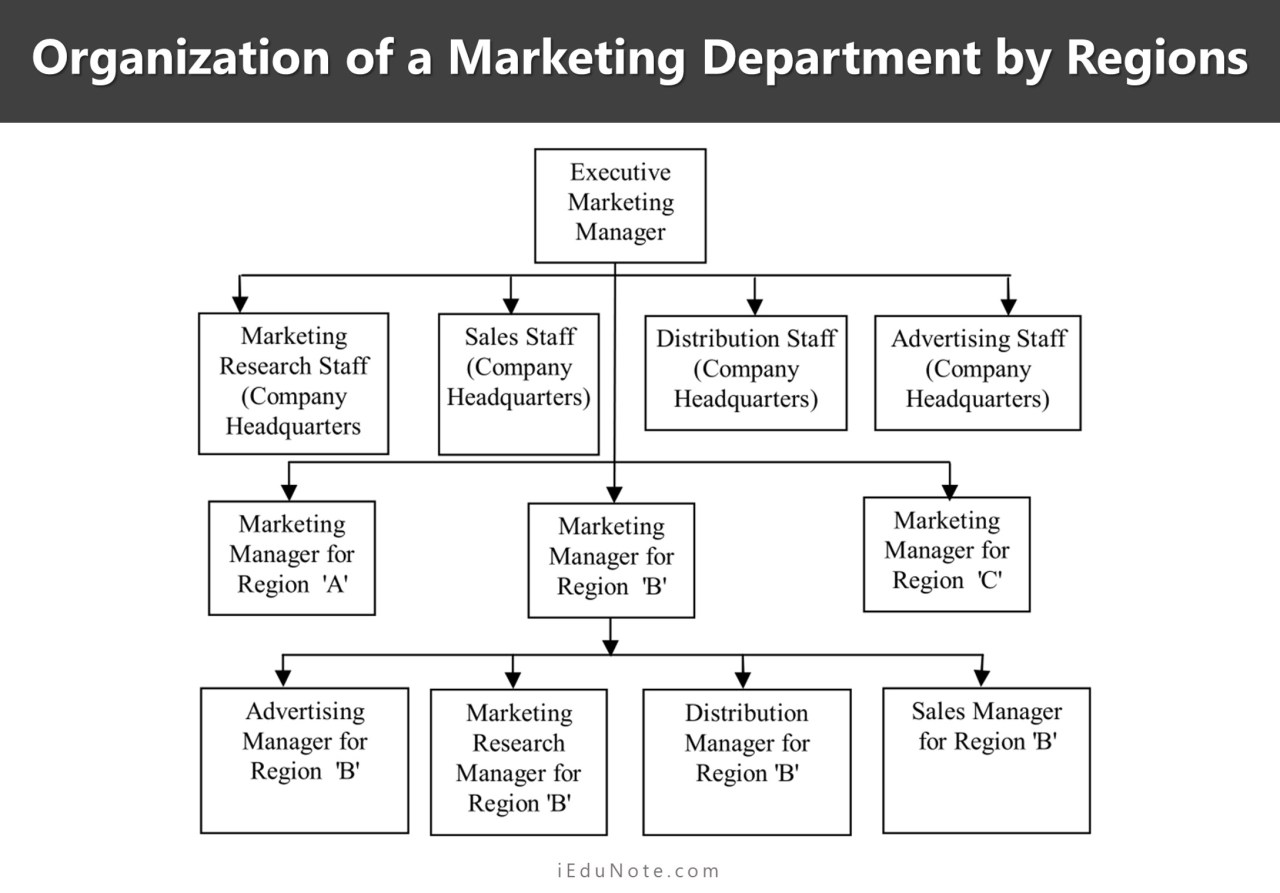 Organization of a Marketing Department by Regions