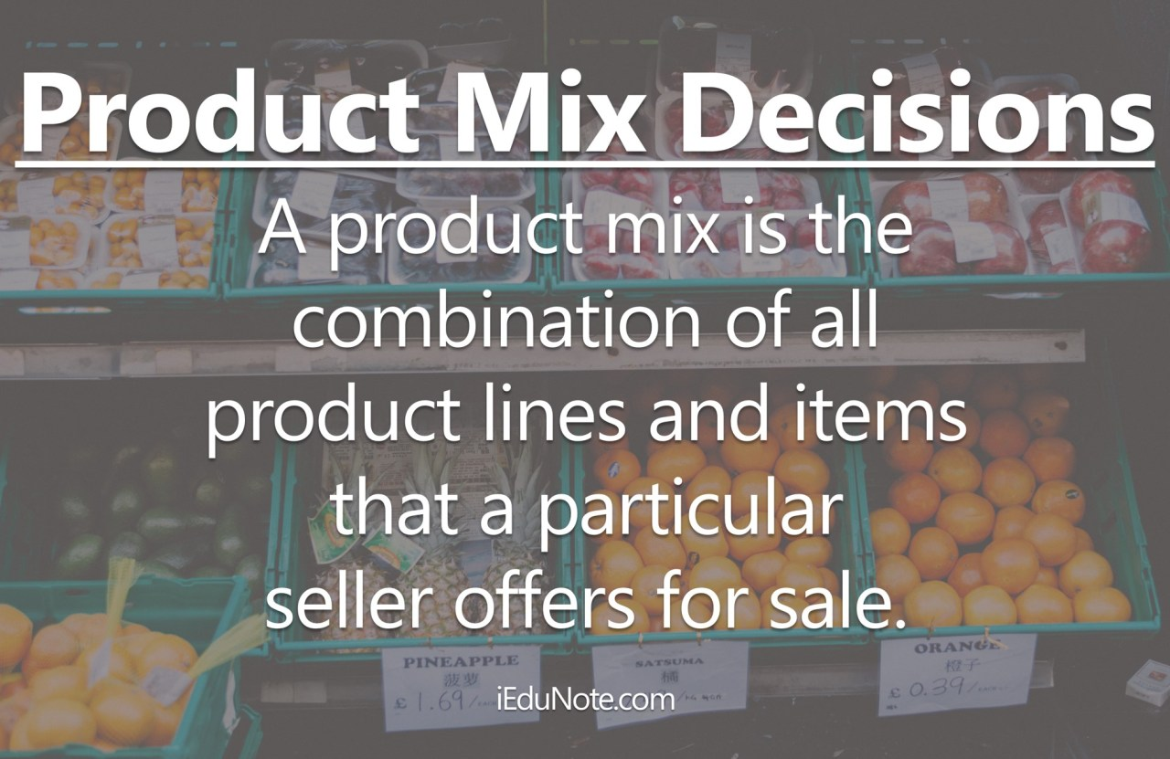 Meaning of Product Mix Decisions