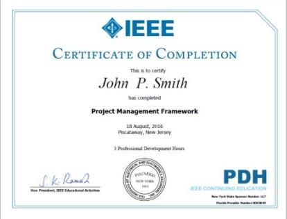 Ieee Ieee Certificates Program